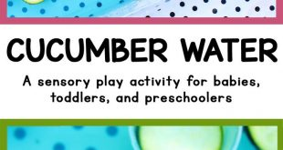 Cucumber Water [Ages all] A sensory play activity using fruit for babies, toddle...