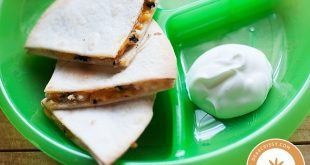 Easy toddler meal: Chicken mushroom quesadillas (PS: love Dear Crissy blog!)