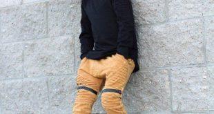 Mustard acid wash boys jogger pants / Boy clothing sets / Trendy boy clothes / Hipster baby boy clothes / Toddler harem pants / Trendy baby