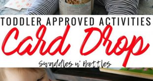 Toddler Approved Activity- Indoor and Outdoor- Card Drop. Great for Fine Motor s...