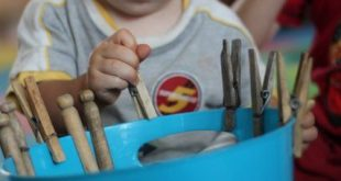 Toddler Fine Motor Activity with Clothespins