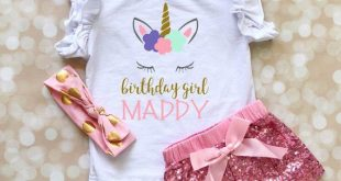 Unicorn Birthday Shirt - Unicorn Birthday Girl Outfit - Birthday Girl Shirt - Toddler Girl Birthday